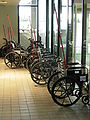 Wheelchairs at Pittsburgh International Airport.JPG