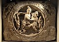 White marble relief with Mithras bull-slaying scene (CIMRM 810-811), from Walbrook Mithraeum in Londinium,, AD 180-220, Museum of London (14007820699).jpg