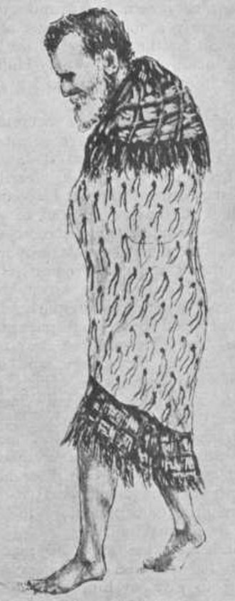 Parihaka - Te Whiti being led from Parihaka, November 1881