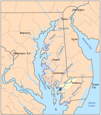 Wicomico River (Maryland eastern shore) - Image: Wicomicomap