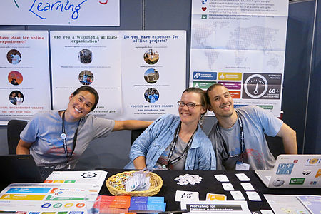 Wikimania 2014 WMF Grantmaking Booth 14.JPG