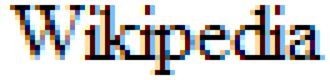 """ClearType - The word """"Wikipedia"""" rendered using ClearType"""