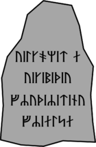 Wikipedia welcome runestone.png