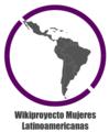 Wikiproyecto Mujeres Latinoamericanas logo ajustado.png
