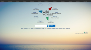 Wikivoyage - Screenshot of the English Wikivoyage's new portal
