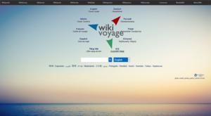 Wikivoyage - Screenshot of the English Wikivoyage's new portal