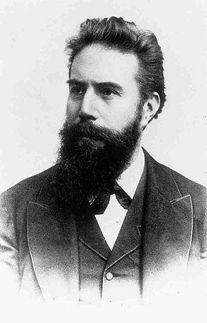 Nobel Prize in Physics - Wilhelm Röntgen (1845–1923), the first recipient of the Nobel Prize in Physics.