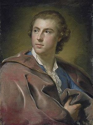 William Conyngham - Portrait (1754- 1755), Pastel on paper, laid on canvas, of William Burton Conyngham (1733–1796) by Anton Raphael Mengs (1728–1779)