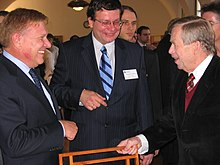 President Václav Havel and Martin, Czech Republic, 2004