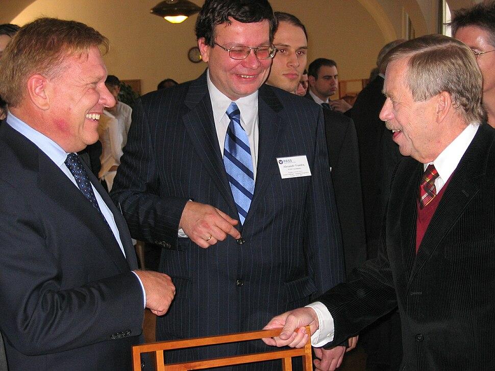 William Flynn Martin and Vaclav Havel (2004)
