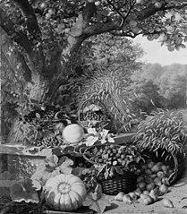 Korn og frugter under et æbletræ
