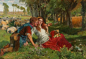 The Hireling Shepherd - Image: William Holman Hunt 001