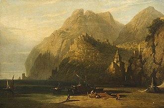 William Linton (artist) - Positano, Gulf of Salerno. 1840s