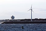 Wind turbine and Seaforth Radar Tower (geograph 4561900).jpg