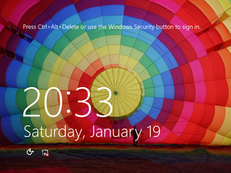 Features new to Windows 8 - The revised lock screen interface in Windows 8