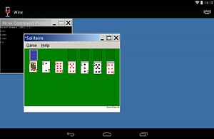 Wine (software) - WINE Solitaire running on Android