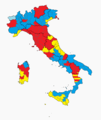 Winning coalition by province (Italy, 2013 elections).png