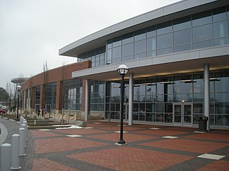 Crisler Center - Image: Wisconsin vs. Michigan women's basketball 2013 49 (Crisler Center exterior)