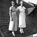 Woman, roof, lady, summer dresses, snocks Fortepan 3663.jpg