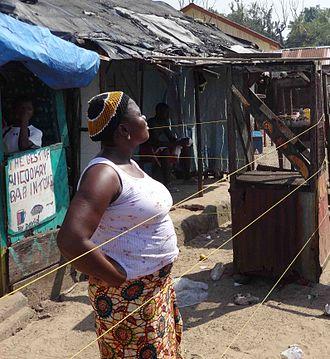 Ebola virus epidemic in Sierra Leone - Woman in household quarantine