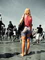 Woman standing - St.-Martin-de-Bréhal, Basse-Normandie, FR.jpg