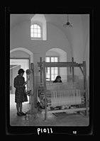 Women's Institute, Jerusalem. One of the weaving rooms, 1 loom, upright LOC matpc.19906.jpg