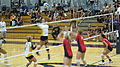 Women's volleyball, Fresno State at Cal 2010-09-11 8.JPG