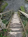 Wooden Steps to private river bank, Percuil River - geograph.org.uk - 382109.jpg
