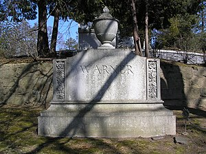 Worcester Reed Warner - The gravesite of Worcester Reed Warner