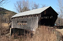 A photograph of Worrall Covered Bridge
