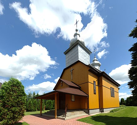 A small Roman Catholic parish church in Wroblik, Poland Wroblik Szlachecki, kostel.jpg