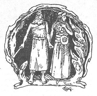 Ingjald - Ingjald and his daughter Åsa