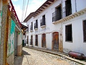 Street in Yuscarán, Honduras