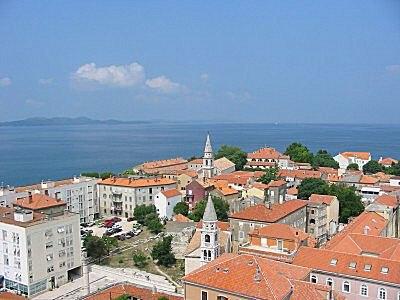 Panoramic view of Zadar.