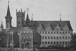 Brzeg Castle - Image: Zamek Piastów w Brzegu front 2