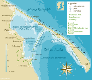 Bay of Puck - Image: Zatoka Pucka mapa mini