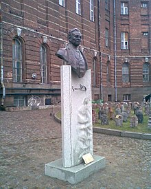 Zeki Velidi Togan bust  in the garden of the Eastern Department of the St. Petersburg State University