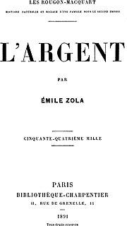 <i>LArgent</i> novel by Émile Zola