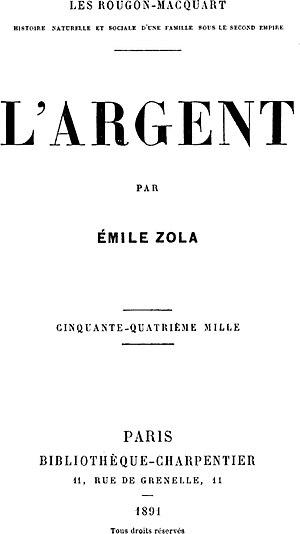 L'Argent cover