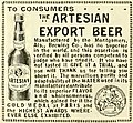 """""""Artesian Export Beer"""" Montgomery Brewing Company (Alabama) - Pacific wine and spirit review (IA pacificwinespiri29sanfrich) (page 36 crop).jpg"""