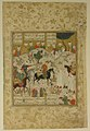 """Meeting of Bahram Gur with a Princess"", Folio from a Shahnama (Book of Kings) MET sf38-13.jpg"