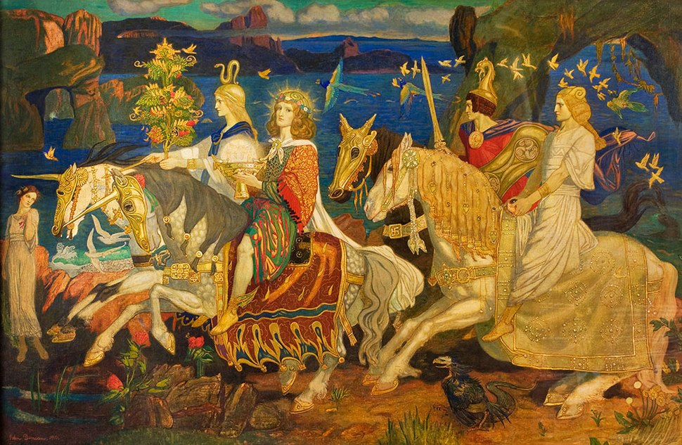 %22The Riders of the Sidhe%22 John Duncan 1911 McManus Galleries, Dundee