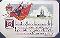 """This England never did nor never shall..."" Shakespeare quote on postcard (28476163225).jpg"