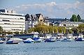 'Seebad' Utoquai in Zürich, Ansicht vom Dampfschiff Stadt Rapperswil der Zürichsee-Schifffahrtsgesellschaft (ZSG) 2013-09-13 15-34-11.JPG