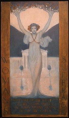 'Woman's Suffrage' by Evelyn Rumsey Cary, 1905, Wolfsonian-FIU Museum.JPG