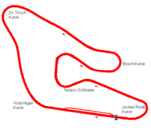 Österreichring track layout from 1969 to 1976
