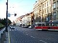 Újezd, od Vítězné k severu, tramvaj.jpg