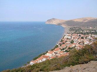 Eresos-Antissa - Image: Σκάλα Ερεσού Θέα από Βίγλα