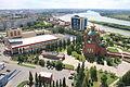 Республика Казахстан, г. Павлодар. Вид на центральный собор, КазТрансОйл, КДЦ им. Естая.JPG