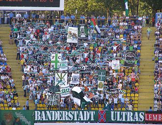 FC Karpaty Lviv - Banderstadt Ultras in 2008 at the Ukraine